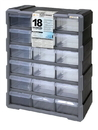 Quantum PDC-18BK Plastic Drawer Cabinets, Cabinet with 18 Plastic Drawers