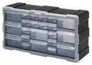 Quantum PDC-22BK Plastic Drawer Cabinets, Cabinet with 22 Plastic Drawers