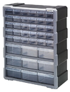 Quantum PDC-39BK Plastic Drawer Cabinets, Cabinet with 39 Plastic Drawers