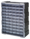Quantum PDC-60BK Plastic Drawer Cabinets, Cabinet with 60 Plastic Drawers