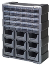 Quantum PDC-930BK Plastic Drawer Cabinets, Cabinet with 30 Plastic Drawers / 9 Bins