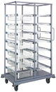 Quantum PS-DBC-7WB7S Partition Store Double Bay Carts - Complete Packages, Double Bay Cart with Wire Baskets & Shelves