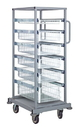 Quantum PS-SBC58-6WB Partition Store Single Bay Carts - Complete Packages, Single Bay Cart with Wire Baskets