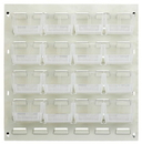 Quantum QLP-1819HC-210-16CL CLEAR-VIEW Oyster White Louvered Panels, 16 QUS210CL