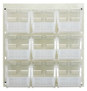 Quantum QLP-1819HC-230-9CL CLEAR-VIEW Oyster White Louvered Panels, 9 QUS230CL