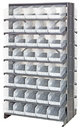 Quantum QPRD-202CL Clear-View Store-More Pick Rack Systems, 24