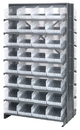 Quantum QPRD-207CL Clear-View Store-More Pick Rack Systems, 24