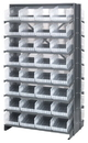 Quantum QPRD-208CL Clear-View Store-More Pick Rack Systems, 36