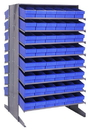Quantum QPRD-602 Sloped Shelving Systems With Super Tuff Euro Drawers, 36