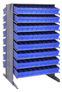 Quantum QPRD-604 Sloped Shelving Systems With Super Tuff Euro Drawers, 36
