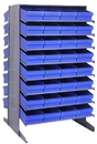 Quantum QPRD-606 Sloped Shelving Systems With Super Tuff Euro Drawers, 36