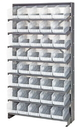 Quantum QPRS-204CL Clear-View Store-More Pick Rack Systems, 24