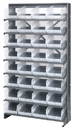 Quantum QPRS-207CL Clear-View Store-More Pick Rack Systems, 12