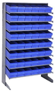 Quantum QPRS-602 Sloped Shelving Systems With Super Tuff Euro Drawers, 18
