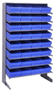 Quantum QPRS-606 Sloped Shelving Systems With Super Tuff Euro Drawers, 18