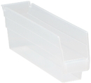 Quantum QSB100CL CLEAR-VIEW Economy Shelf Bin, 11-5/8