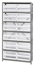 Quantum QSBU-245CL CLEAR-VIEW hang and stack bins, 12