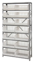 Quantum QSBU-250CL CLEAR-VIEW Hang-and-stack bin, 12