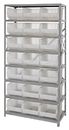 Quantum QSBU-255CL CLEAR-VIEW Hang-and-stack bin, 18