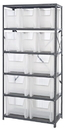 Quantum QSBU-600800CL CLEAR-VIEW Bin Storage Center - Complete Steel Package, 18