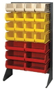 Quantum QSS-3666H Single Side Louvered Rack, HEAVY-DUTY SINGLE SIDED FREE STANDING UNIT 36