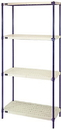 Quantum RPWR72-2430E 1 Box Wire Plastic Mat Shelving 4-Shelf Units, 24