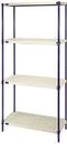 Quantum RPWR72-2436E 1 Box Wire Plastic Mat Shelving 4-Shelf Units, 24