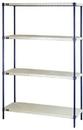 Quantum RPWR72-2448E 1 Box Wire Plastic Mat Shelving 4-Shelf Units, 24