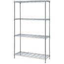 Quantum RWR72-2442LD 1 Box Wire Shelving 4-Shelf Units - Chrome, 24