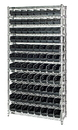 Quantum WR12-101CO Wire Shelving Units Complete With Conductive Shelf Bins, 88 QSB101CO BINS