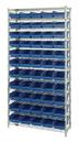 Quantum WR12-102 Shelf Bin Wire Shelving System, 55 QSB102 BINS