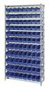 Quantum WR12-103 Shelf Bin Wire Shelving System, 88 QSB103 BINS