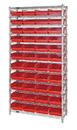 Quantum WR12-114 Shelf Bin Wire Shelving System, 44 QSB114 BINS