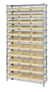 Quantum WR12-116 Shelf Bin Wire Shelving System, 33 QSB116 BINS