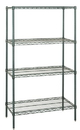 Quantum WR54-2430P Wire Shelving 4-Shelf Starter Units - Proform, 24