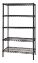 Quantum WR54-2472BK-5 Wire Shelving 5-Shelf Starter Units - Black, 24