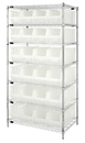 Quantum WR7-951CL Clear-View Hulk Complete Wire Package, 24 QUS951CL BINS