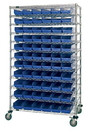 Quantum WR74-1860-88104CL High Density Wire Systems With Shelf Bins, 18