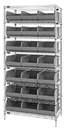 Quantum WR8-425 Stackable Shelf Bin Wire Shelving Packages, 21 SSB425