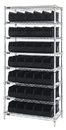 Quantum WR8-441 Stackable Shelf Bin Wire Shelving Packages, 35 SSB441