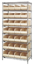Quantum WR8-443 Stackable Shelf Bin Wire Shelving Packages, 28 SSB443