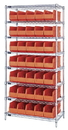 Quantum WR8-461 Stackable Shelf Bin Wire Shelving Packages, 35 SSB461