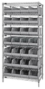 Quantum WR8-463 Stackable Shelf Bin Wire Shelving Packages, 28 SSB463