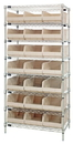 Quantum WR8-465 Stackable Shelf Bin Wire Shelving Packages, 21 SSB465