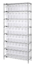 Quantum WR8-801CL Wire Shelving Units With Clear-View Store-Max 8