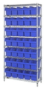 Quantum WR8-804 Wire Shelving Units With Store-Max 8