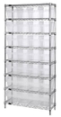 Quantum WR8-808CL Wire Shelving Units With Clear-View Store-Max 8