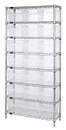 Quantum WR8-809CL Wire Shelving Units With Clear-View Store-Max 8