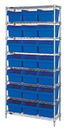Quantum WR8-810 Wire Shelving Units With Store-Max 8
