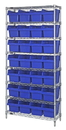 Quantum WR8-814 Wire Shelving Units With Store-Max 8